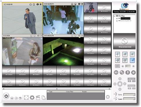 Remotely view and manage up to 32 cameras with D-ViewCam 2.0 software.