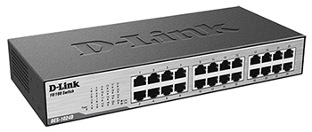D-Link DES-1024D Side View